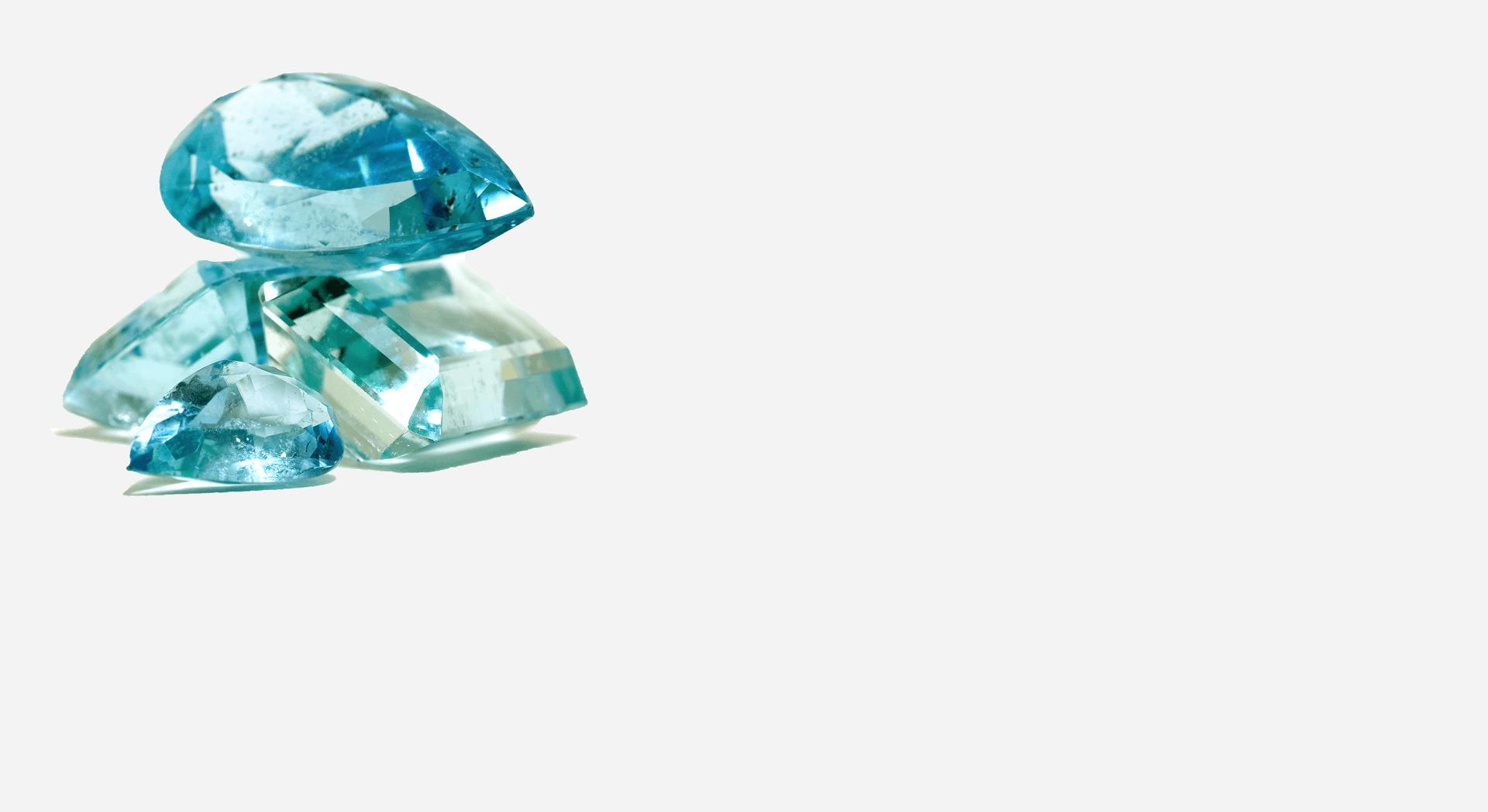mehrere-aquamarine