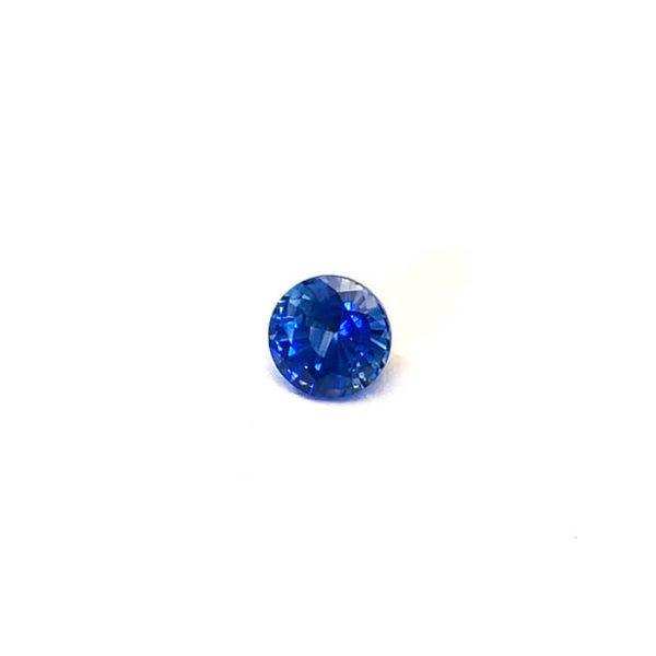 Saphir-blau-rund