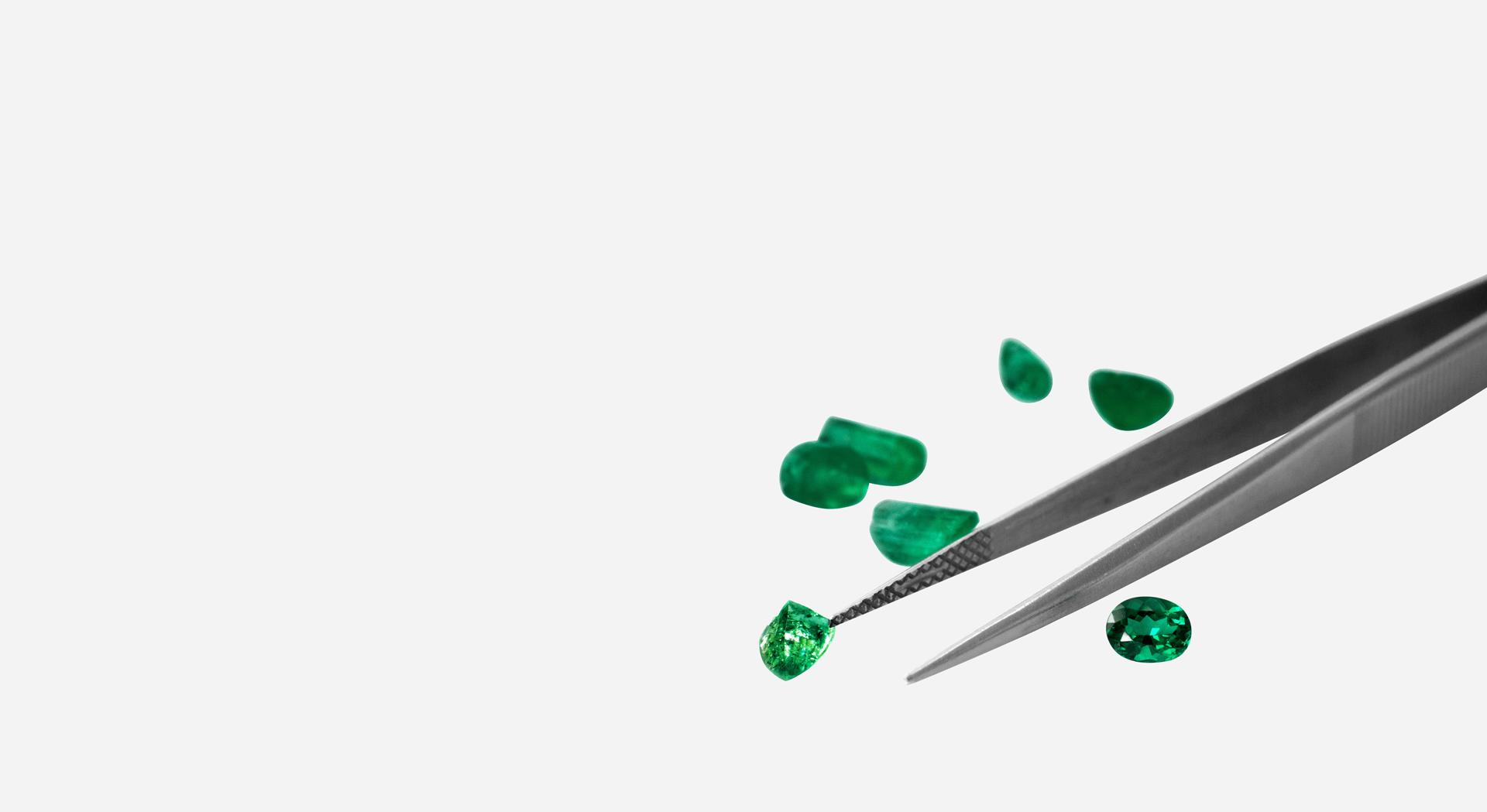 smaragde-pinzette