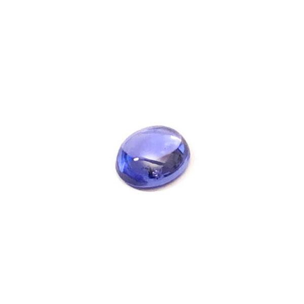 Tansanit,oval,blau