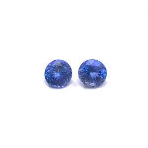 Tansanit, rund,blau