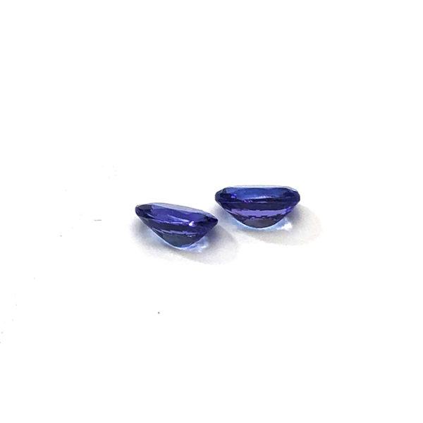 Tansanit, oval,blau