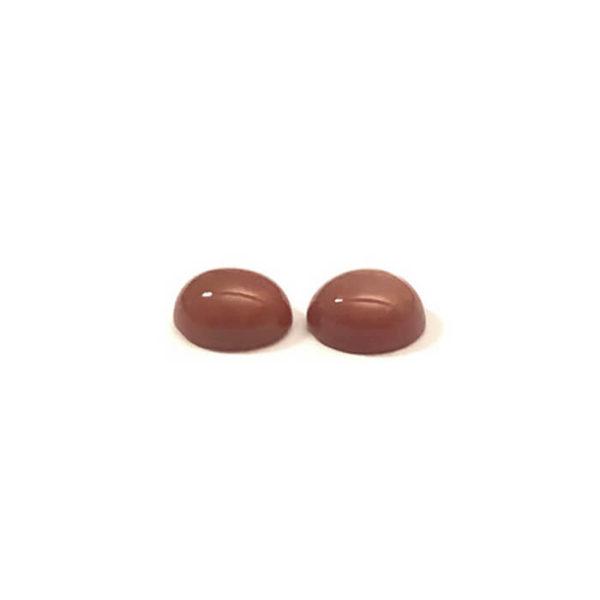 Mondstein,braun,oval