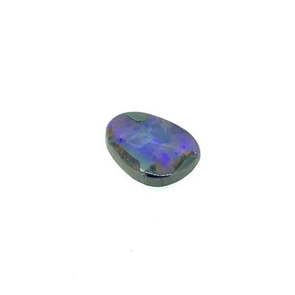 opal, blau,freiform