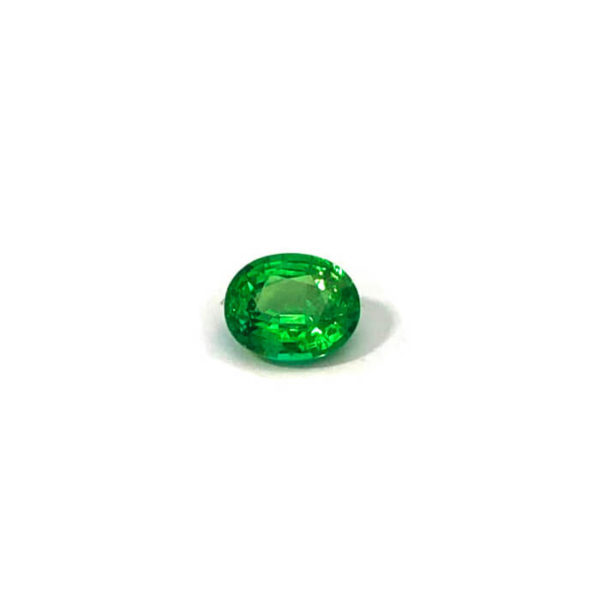 tsavorit grün oval
