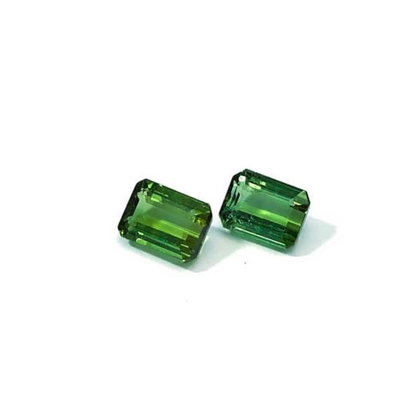 Turmalin-achteck-grün