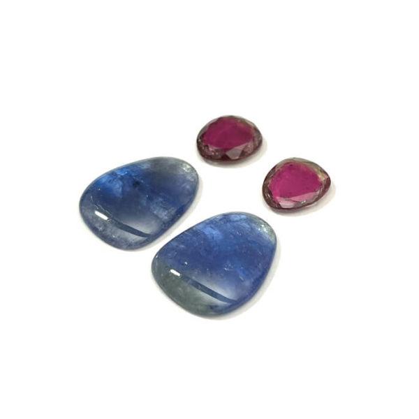 tansanit,turmalin,blau,rosa